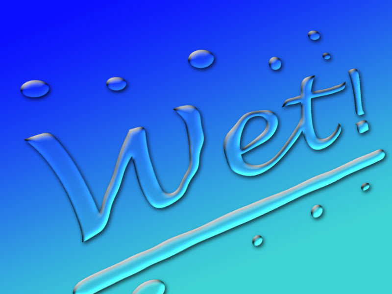 Photoshop Wet Text Effect